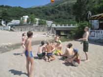 детский лагерь Жемчужный берег - на пляже