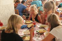 Детский лагерь им. Казакевича, в столовой - Крым