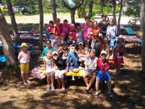 Детский лагерь Радуга, отрядные посиделки