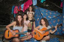 Детский лагерь Голубая волна, песни под гитару - Крым
