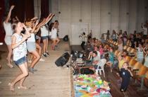 Детский лагерь Голубая волна, в кино-концертном зале - Крым