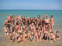 Детский лагерь им. Казакевича, у моря - Крым