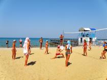 Детский лагерь им. Казакевича, пляжный волейбол - Крым
